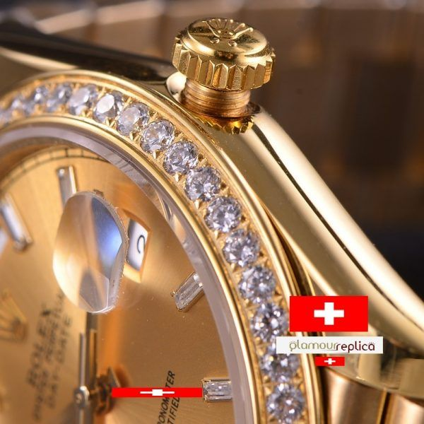 OYSTER PERPETUAL DAY-DATE 40 228348RBR,ORO GRUESO 18K,buyreplicasdeluxe, brillantes
