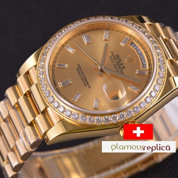OYSTER PERPETUAL DAY-DATE 40 228348RBR,ORO GRUESO 18K,buyreplicasdeluxe, replicas de rolex iguales