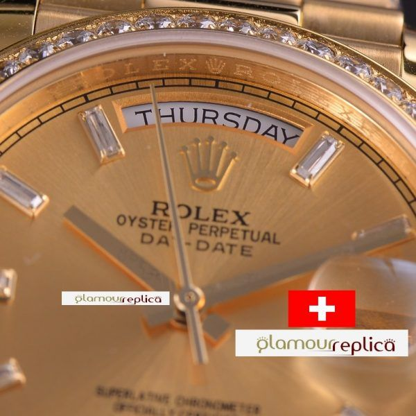 OYSTER PERPETUAL DAY-DATE 40 228348RBR,ORO GRUESO 18K,buyreplicasdeluxe,esfera