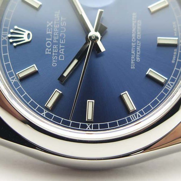 DateJust-36-SS-116200-904L-buyreplicasdeluxe-3135-dial azul